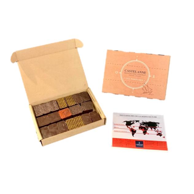 Coffret Dégustation Crus de Cacao 15 Chocolats