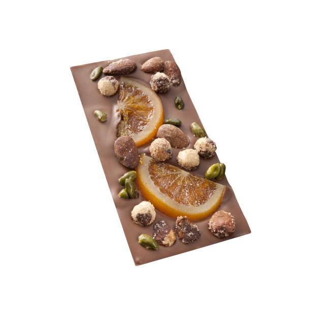 Tablette MENDIANT chocolat au lait et Fruits secs