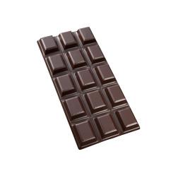 Tablette OR VERT chocolat noir, pâte d'amande pistache